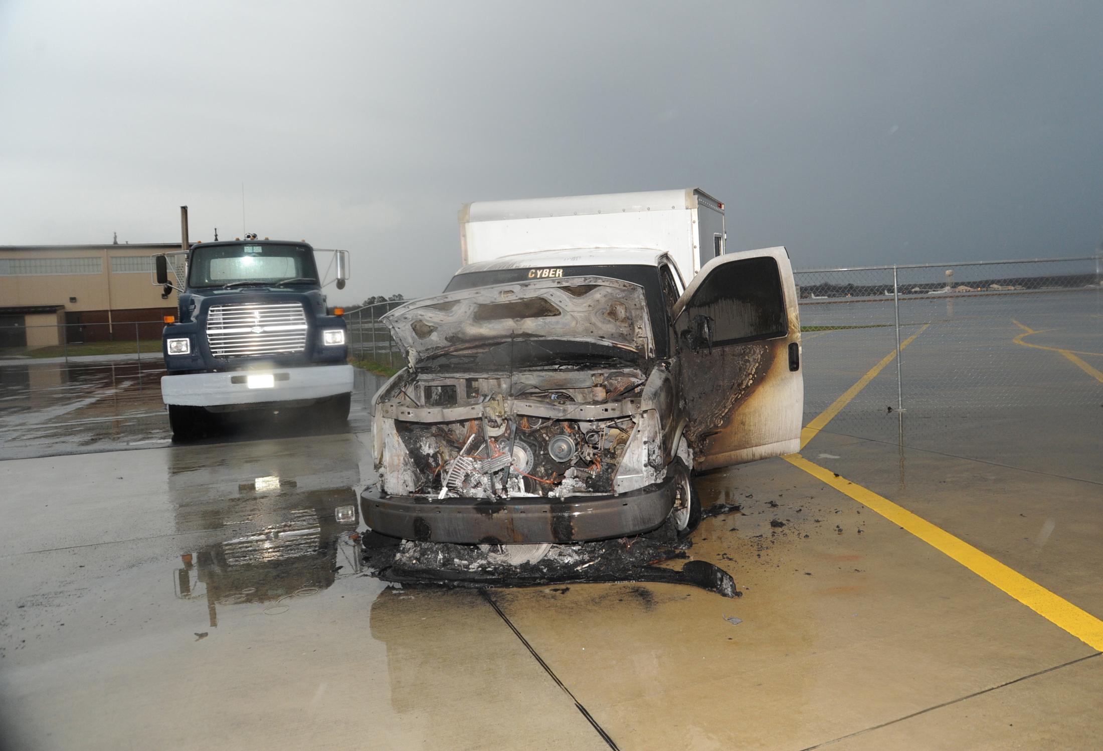 Truck Struck By Lightning