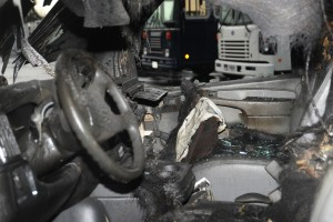 Lightning strike also damaged the interior.