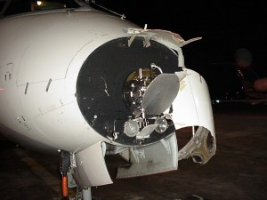 CRJ Radome Hit by Lightning